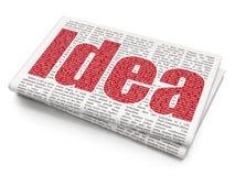 Concepto de la publicidad: Idea en fondo del periódico stock de ilustración