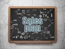 Concepto de la publicidad: Plan de las ventas en consejo escolar Fotografía de archivo libre de regalías