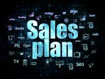 Concepto de la publicidad: Plan de las ventas en digital Foto de archivo