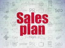 Concepto de la publicidad: Plan de las ventas en digital Fotos de archivo