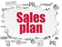 Concepto de la publicidad: Plan de las ventas en el papel rasgado Fotografía de archivo