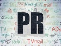 Concepto de la publicidad: RRPP en el papel de Digitaces Foto de archivo libre de regalías
