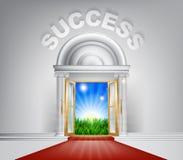 Concepto de la puerta del éxito Fotografía de archivo