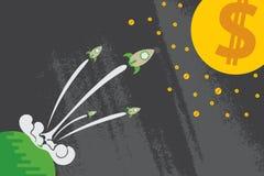 Concepto de la puesta en marcha del negocio ilustración del vector
