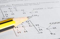 Concepto de la química Imagenes de archivo
