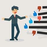 Concepto de la reacción: Recepción del hombre de negocios como y aversión libre illustration