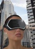 Concepto de la realidad virtual Imagen de archivo libre de regalías
