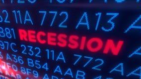 Concepto de la recesión fotografía de archivo