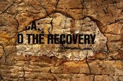 Concepto de la recuperación Fotografía de archivo libre de regalías
