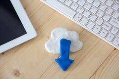Concepto de la red de computación de la nube Foto de archivo libre de regalías