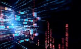 Concepto de la red de la cadena de bloque en fondo de la tecnología Imágenes de archivo libres de regalías