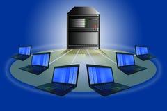 Concepto de la red de ordenadores. Imagenes de archivo