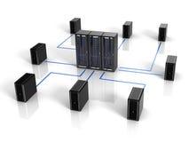 Concepto de la red de ordenadores y de la comunicación Fotos de archivo
