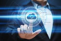 Concepto de la red del almacenamiento de Internet de la tecnología de ordenadores de la nube foto de archivo libre de regalías