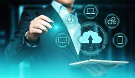 Concepto de la red del almacenamiento de Internet de la tecnología de ordenadores de la nube fotografía de archivo libre de regalías