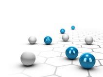 Concepto de la red, del establecimiento de una red y de la conexión