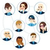 Concepto de la red del negocio ilustración del vector
