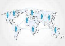 Concepto de la red del negocio global ilustración del vector