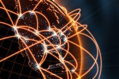 Concepto de la red global Imágenes de archivo libres de regalías