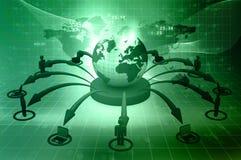 Concepto de la red global Imagen de archivo libre de regalías