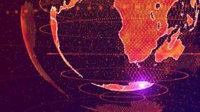 Concepto de la red global de la inteligencia artificial del AI del mundo Internet de IOT de cosas Red de comunicaciones globales  stock de ilustración