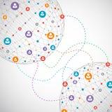 Concepto de la red/medios sociales Imágenes de archivo libres de regalías