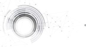 Concepto de la red neuronal Células conectadas con vínculos Alto technol stock de ilustración