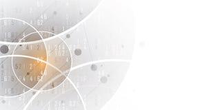 Concepto de la red neuronal Células conectadas con vínculos Alto technol libre illustration