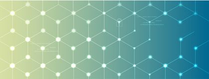 Concepto de la red neuronal Células conectadas con vínculos Proceso de alta tecnología libre illustration