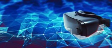 Concepto de la red de la realidad virtual fotos de archivo
