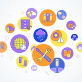 Concepto de la red y del servidor Fotos de archivo libres de regalías