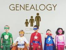 Concepto de la relación de las generaciones de la familia de la genealogía fotografía de archivo libre de regalías