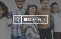 Concepto de la relación de sociedad de la amistad de los mejores amigos imagen de archivo