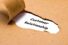 Concepto de la relación del cliente Imagen de archivo libre de regalías