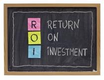 Concepto de la rentabilidad de la inversión Imagenes de archivo