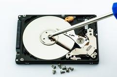 Concepto de la reparación del disco duro Foto de archivo