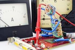Concepto de la reparación de la electrónica Imagen de archivo libre de regalías