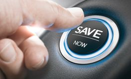 Concepto de la representación, ventas del coche, las mejores ofertas Fotos de archivo libres de regalías