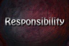Concepto de la responsabilidad imagenes de archivo