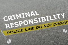 Concepto de la responsabilidad criminal libre illustration