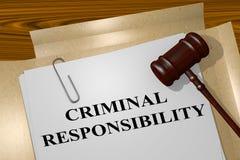 Concepto de la responsabilidad criminal stock de ilustración