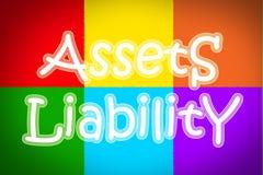 Concepto de la responsabilidad de los activos fotos de archivo libres de regalías