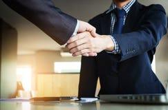 Concepto de la reunión de la sociedad del negocio Imágenes de hombres de negocios Imagen de archivo