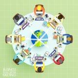 Concepto de la reunión del trabajo del equipo del negocio Imagen de archivo