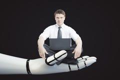 Concepto de la robótica Imagen de archivo libre de regalías