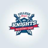 Concepto de la ropa del logotipo del equipo de deporte de la liga de la universidad Foto de archivo libre de regalías