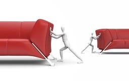 Concepto de la rotación de los muebles