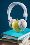 Concepto de la rotura con los auriculares Fotos de archivo