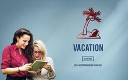 Concepto de la rotura del viaje del viaje de la relajación del día de fiesta de las vacaciones Imagen de archivo libre de regalías