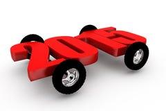 concepto 2015 de la rueda de coche 3d Foto de archivo libre de regalías